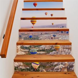 Autocolante scari - Baloane cu aer cald - 6 folii de 18x100 cm0