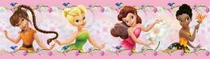 Sticker Brau roz cu flori si zane Diseny - Walt Disney0
