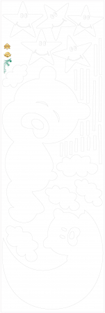 Decor camera bebe - Luna si nori - 135x125 cm [2]
