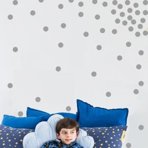 Decor perete camera bebe - Buline - Argintiu, Auriu1