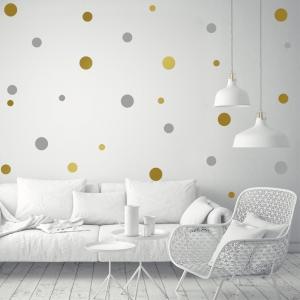 Decor perete camera bebe - Buline - Argintiu, Auriu0