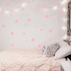 Decoratiuni camera bebe - Stelute  - Roz, Siclam0