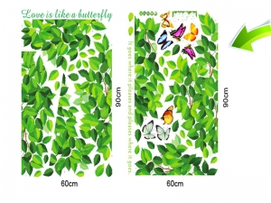 Decoratiuni perete - Frunze si fluturi3