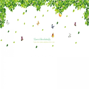 Decoratiuni perete - Frunze si fluturi5