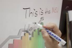 Folie autocolanta de tip whiteboard - ideal pentru proiectii - culoare alba - 137x100 cm2
