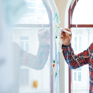 Folie autocolanta magnetica de tip whiteboard - culoare alba - 100x100 cm5