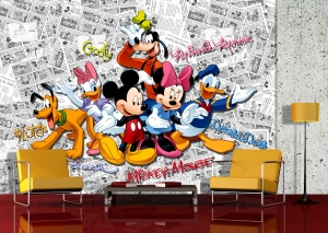 Fototapet Trupa lui Mickey Mouse1