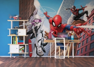 Fototapet Spiderman si Eroii1
