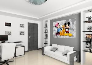 Fototapet Minnie, Mickey si Pluto1