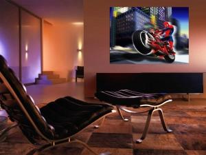 Fototapet Spiderman si Motocicleta - 160x115cm1