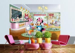Fototapet Minnie si Daisy la Restaurant1
