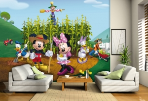 Fototapet Disney - Clubul lui Mickey Mouse la Ferma1