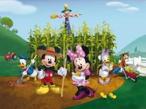 Fototapet Disney - Clubul lui Mickey Mouse la Ferma0