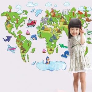 Harta animata a lumii pentru copii0