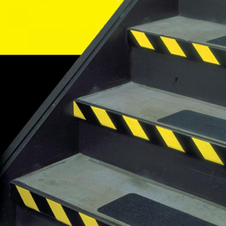 Banda adeziva marcare, PVC galben/negru, 50mm x 66m2