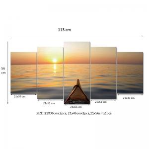 Set Tablouri Canvas - 5 piese - Apus - 113x56 cm4