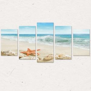 Set Tablouri Canvas - 5 piese - Plaja - 113x56 cm3