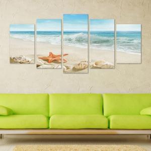 Set Tablouri Canvas - 5 piese - Plaja - 113x56 cm0