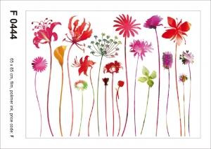 Sticker Flori Rosii - Red Nostalgia - 65X85cm - F04441