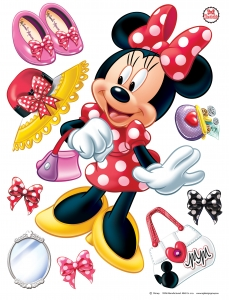 Sticker Minnie Mouse -  65x85cm  - DK17030