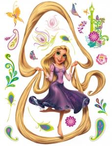 Sticker Rapunzel si Turnul - 65x85cm - DK8630