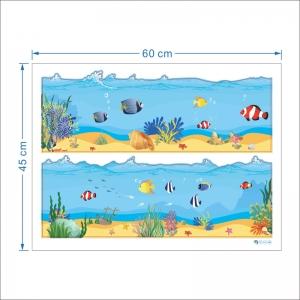 Sticker brauri decorative - Pesti in mare [5]