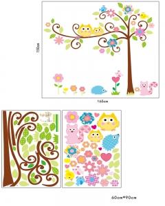 Sticker camere copii - Bufnite pe creanga7