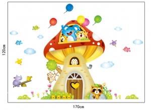 Sticker camere copii - Casuta din ciuperca5