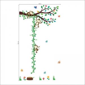 Sticker camere copii - Maimute in copac si pe liana [4]