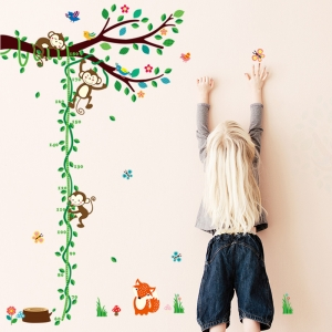 Sticker camere copii - Maimute in copac si pe liana2