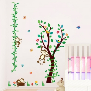 Sticker camere copii - Maimute in copac si pe liana5