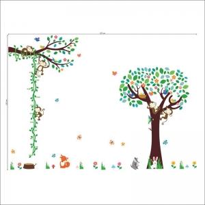 Sticker camere copii - Maimute in copac si pe liana3