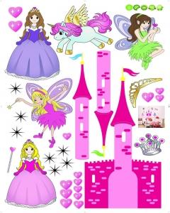 Sticker camere fetite- Castel cu printese4