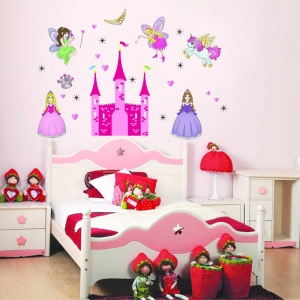 Sticker camere fetite- Castel cu printese2