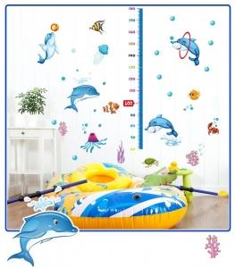 Sticker copii masurator inaltime - Joaca cu delfinii - Grafic de crestere4
