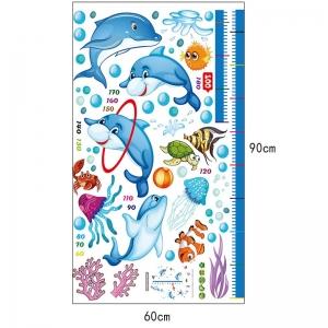 Sticker copii masurator inaltime - Joaca cu delfinii - Grafic de crestere6
