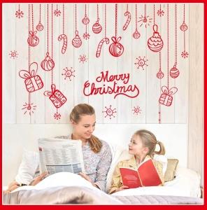 Sticker Craciun - Merry Christmas! - globuri si cadouri3