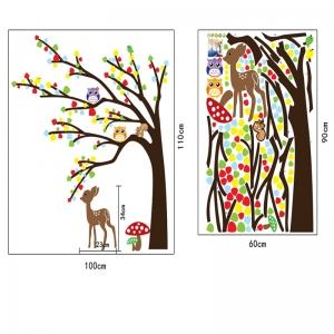 Sticker de perete camera copilului - Caprioara in padure1