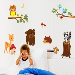 Autocolant de perete camere copii - Animalele padurii3