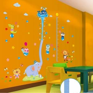 Sticker de perete camere copii - Grafic de crestere cu animale- masurator inaltime2