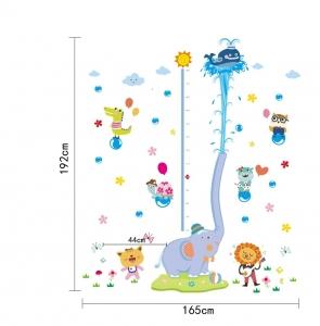 Sticker de perete camere copii - Grafic de crestere cu animale- masurator inaltime5