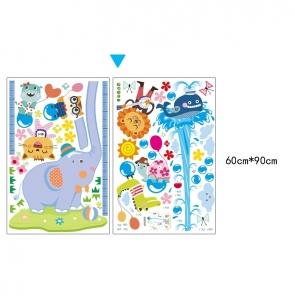 Sticker de perete camere copii - Grafic de crestere cu animale- masurator inaltime6