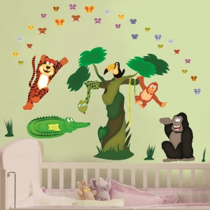 Sticker decorare camere copii - In jungla1