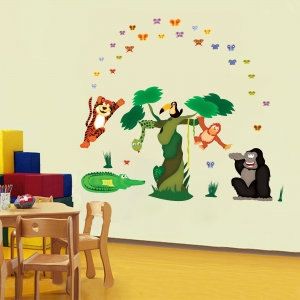 Sticker decorare camere copii - In jungla3