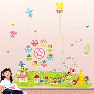Sticker decorare camere copii - Masurator de inaltime - Parcul de distractii0