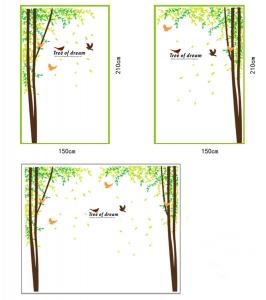 Sticker decorativ camera de zi - Padure si pasari2