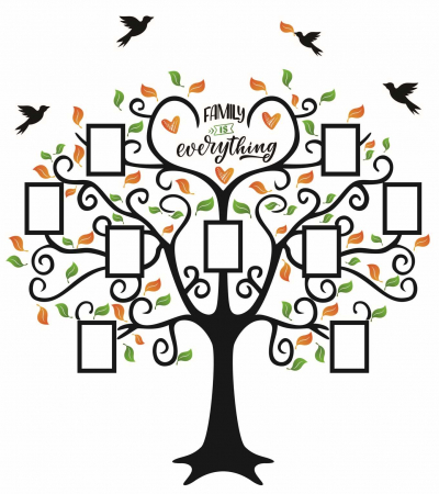 Sticker decorativ - Copac cu rame foto - Family is everything [0]