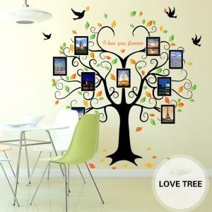 Sticker decorativ - Copacul iubirii cu rame foto6