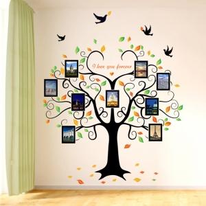 Sticker decorativ - Copacul iubirii cu rame foto1