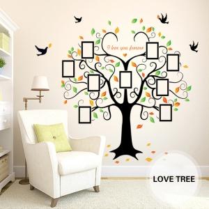 Sticker decorativ - Copacul iubirii cu rame foto0